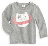 Tucker + Tate Infant Girl's Icon - Space Cat Cotton Sweater