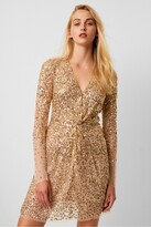 French Connection Emille Sequin Plunge Mini Dress