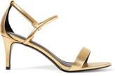 Sandro Metallic Leather Sandals