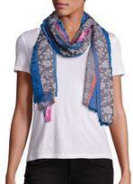 Etro Printed Stripe Silk-Blend Scarf