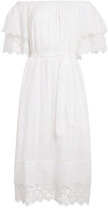 Melissa Odabash Off-The-Shoulder Midi Dress