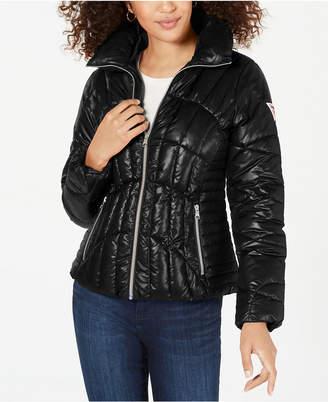 GUESS High-Shine Puffer Coat