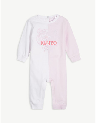 Kenzo Tiger motif footless cotton babygrow 3-12 months