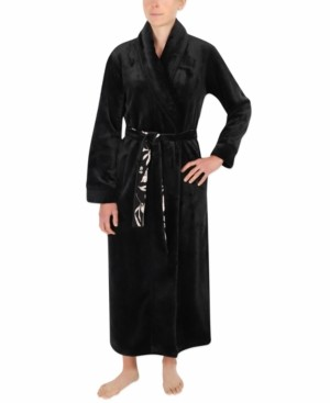 Sesoire French Fleece Long Wrap Robe