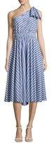 Milly Anna Striped A-Line Dress, Blue
