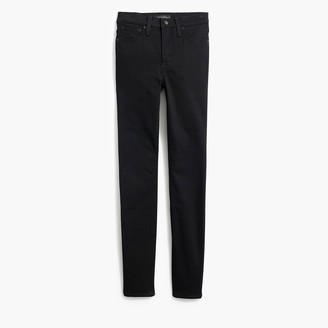 "J.Crew Petite 9"" high-rise skinny jean in black denim"