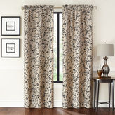 Asstd National Brand Saratoga 2-Pack Flocked Rod-Pocket Curtain Panels