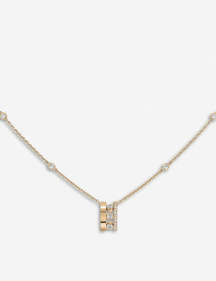 Messika Move Romane 18ct rose-gold and diamond necklace