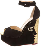 Charlotte Olympia Two-Faced Peep-Toe Wedges w/ Tags