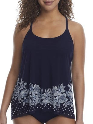 CoCo Reef Tropical Spot Mesh Underwire Tankini Top