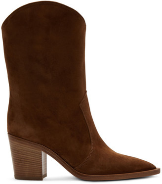 Gianvito Rossi Brown Suede Denver Boots