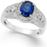 Effy Sapphire (1-3/8 ct. t.w.) and Diamond (1/3 ct. t.w.) Ring in 14k White Gold
