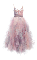 Marchesa Ruffled Cocktail Dress