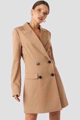 NA-KD Wide Lapel Blazer Dress