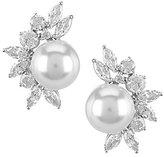 Nadri Heaven Faux-Pearl Linear Earrings