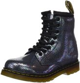 Dr. Martens Junior Sparkle Grey Delaney Boots-UK 3