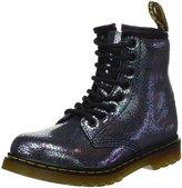 Dr. Martens Junior Sparkle Grey Delaney Boots-UK3 Kids
