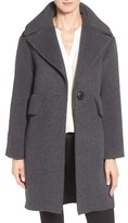 Derek Lam 10 Crosby Women's Extreme Pocket Detail One Button Wool Blend Coat