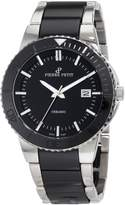 Pierre Petit Men's P-807A Serie Colmar Ceramic and Stainless-Steel Bracelet Watch
