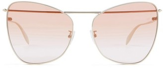 Alexander McQueen Sunglasses with metal bar