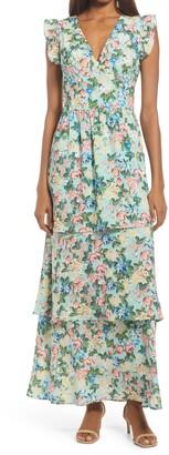 Fourteenth Place V-Neck Tiered Dress