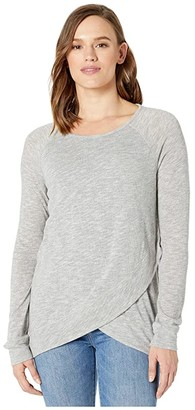 tentree Acre Long Sleeve (High-Rise Grey Marled) Women's Clothing
