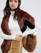 Urban Code Urbancode Chevron Spliced Faux Fur Scarf