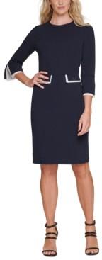 DKNY Split-Cuff Sheath Dress