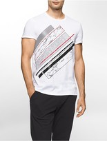 Calvin Klein Slim Fit Textured Bar Logo T-Shirt