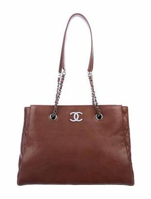 Chanel CC Accordion Tote brown