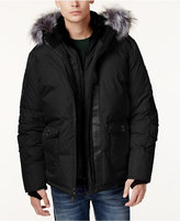 Point Zero Faux-Fur-Trim Layered Ripstop Coat