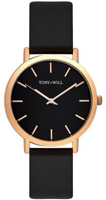 TONY+WILL Classic Black TWT000C Watch