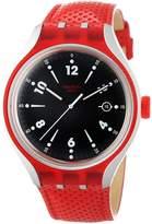 Swatch Men's Irony YES4001 Leather Swiss Quartz Watch
