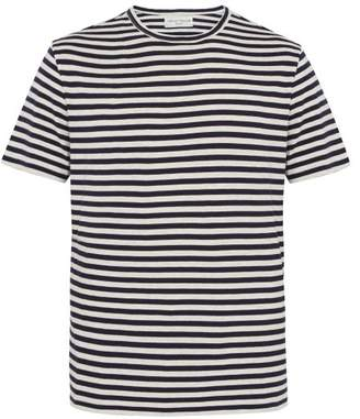 Officine Generale Striped Cotton T Shirt - Mens - Black White