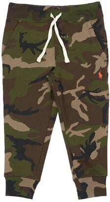 Ralph Lauren Camo Print Cotton Blend Sweat Pants