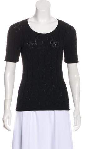 Cable Knit Short Sleeve Top