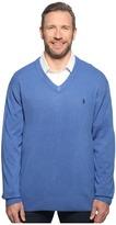 U.S. Polo Assn. Big & Tall Long Sleeve V-Neck Soft Acrylic