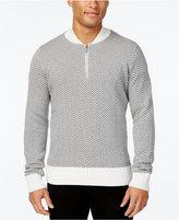Sean John Men's Herringbone Half-Zip Sweater, Only at Macy's