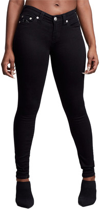 True Religion Halle Black High-Rise Super Skinny Capri