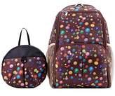 Win8Fong Baby Polka Dot Large Capacity Nappy Changing Bag Diaper Backpack Rucksack Freaky Mummy Bag + Baby Small Backpack