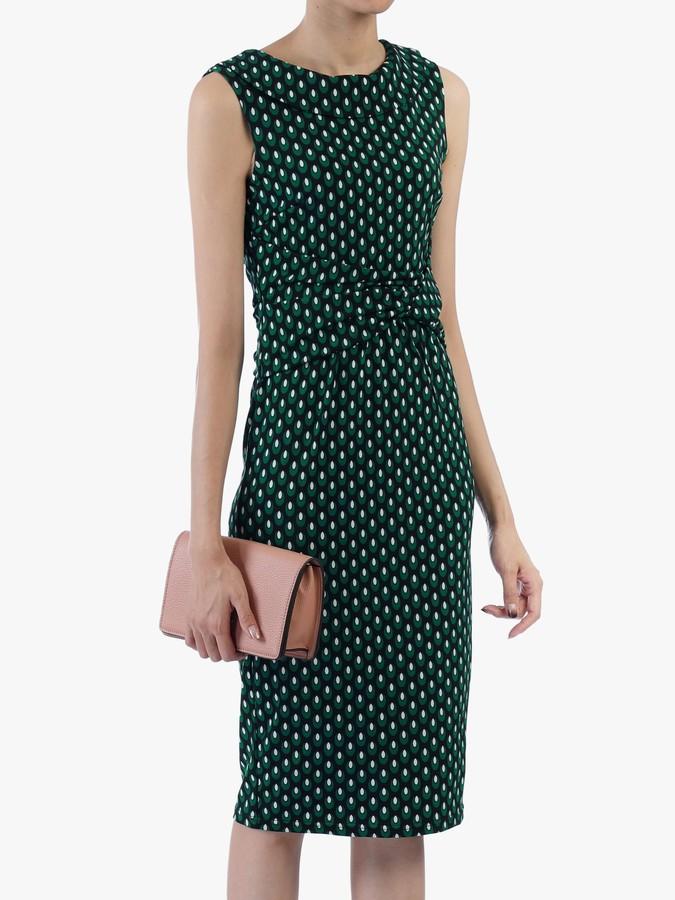 Jolie Moi Roll Collar Sleeveless Shift Dress