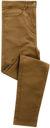 Workwear World WW Ladies Fashion Colour Performance Chino Jeans Trousers with Stretch Fabric (Camel 22R)