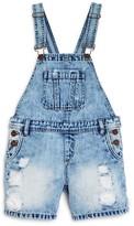 Blank NYC BLANKNYC Girls' Distressed Denim Shortalls - Sizes 7-14