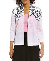 Ming Wang Open Front Jacket