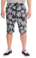 Victorious Dropcrotch Leaf Print French Terry Shorts JS417 - I5D