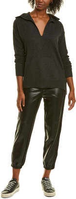 InCashmere High-Low Cashmere Hoodie