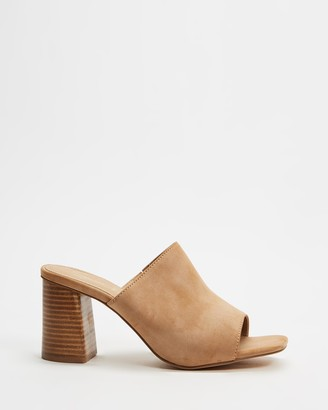 Spurr Women's Brown Heeled Sandals - Bree Wide Fit Heels - Size 5 at The Iconic