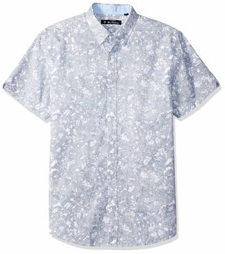 Ben Sherman Men's SS Linear FLRL PRNT Shirt
