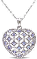 Concerto Tanzanite Sterling Silver Heart Pendant Necklace