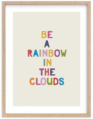 Pottery Barn Kids Rainbow in a Cloud Wall Art By Minted®,11x14, Black